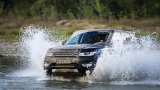 2014 Range Rover Sport driving through river