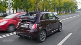 Abarth 695 Edizione Maserati city driving with top open