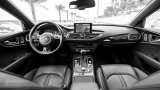 AUDI A7 Sportback interior in black and white