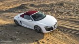 AUDI R8 V10 Spyder in the desert