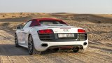 AUDI R8 V10 Spyder quattro at work in the desert