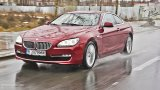 BMW 6 Series Coupe in the rain
