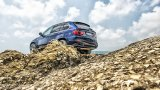BMW X5 on rocks