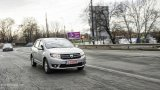 DACIA Logan city driving
