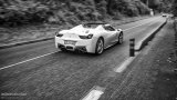 FERRARI 458 Spider black and white photo