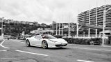 FERRARI 458 Spider city driving