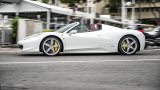 FERRARI 458 Spider open top driving in city