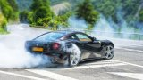 FERRARI F12 Berlinetta doing donuts