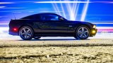 FORD Mustang GT 5.0 profile at night