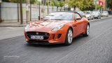 Jaguar F-Type V6 S in city