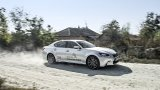 LEXUS GS 450h F Sport speedign on gravel