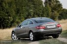 Mercedes Benz E 350 CDI Coupe three quarters rear view