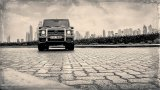 MERCEDES-BENZ G63 AMG black and white photo