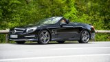 MERCEDES-BENZ SL63 AMG with roof down