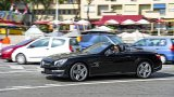 MERCEDES-BENZ SL63 AMG driving in Monaco