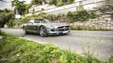 Mercedes-Benz SLS AMG Roadster open top driving