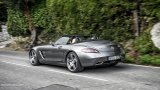Mercedes-Benz SLS AMG Roadster with top down