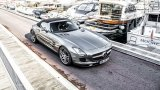 Mercedes-Benz SLS AMG Roadster in harbor