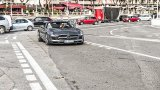 Mercedes-Benz SLS AMG Roadster urban driving