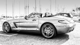 Mercedes-Benz SLS AMG Roadster in urban environment