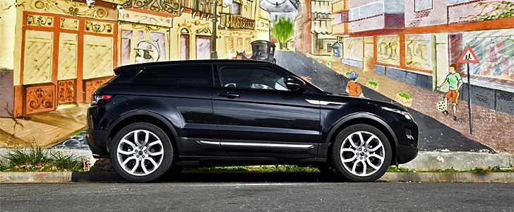 Range Rover Evoque Coupe - In the city